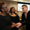 Living the Dream Partners hold 2020 Martin Luther King Jr. Celebration. From left, individual award recipients Mercy Anampiu of LCHC, Leslie Rivera of UTEC and Sally Thayer of Boys & Girls Club of Greater Lowell, all of Lowell. (SUN/Julia Malakie)