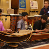 Living the Dream Partners hold 2020 Martin Luther King Jr. Celebration. From left, Dominick Vor, 14, Sokkheang Chea, 14, and P-Snu Thy, 15, all of Lowell, play Cambodian music. (SUN/Julia Malakie)
