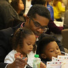 Living the Dream Partners hold 2020 Martin Luther King Jr. Celebration. Brent Smith of Tewksbury with daughter River and son Brent Smith II. (SUN/Julia Malakie)
