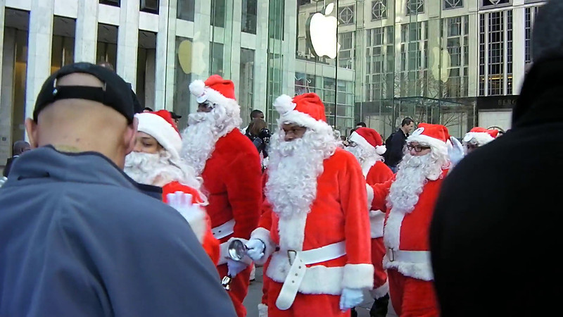 Forty Santas Marching for a cause can not be wrong.