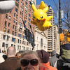 Pikachu with Pokeball and a woman who's been coming to the parade since the 30s.