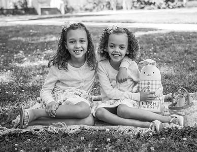 Madelyn & Ava, Easter 2017