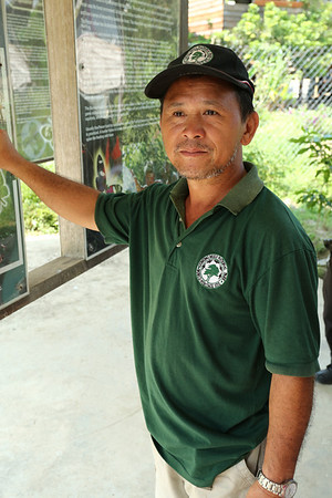 The local guide who talked half of the time about jungle and half about religion.