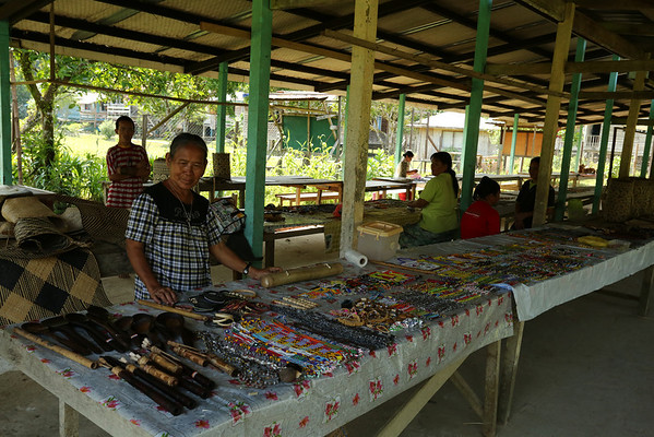 And the tourist market with souvenirs.