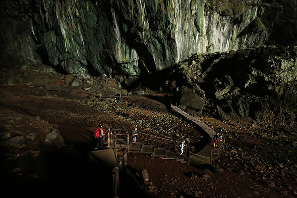The cave hosts millions of bats and sometimes you can feel the guano falling from the ceiling.