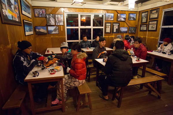 The final ascend for summit starts with a small breakfast before 2 a.m.