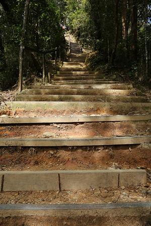 The trek is best described as many kilometers of stairs.