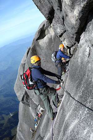 Our route is of intermediate difficulty. If you are not afraid of heights you can do it.