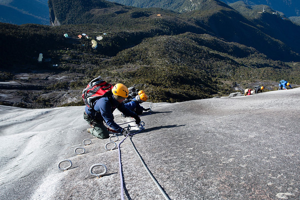 Via Ferrata route ends close to Pendant Hut where we had a few hours of sleep during previous night.