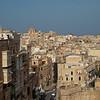The rooftops of Valletta from the Upper Bakkara Gardens