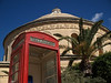 Mosta dome - I thought the telephone box and the Dome just looked so odd together