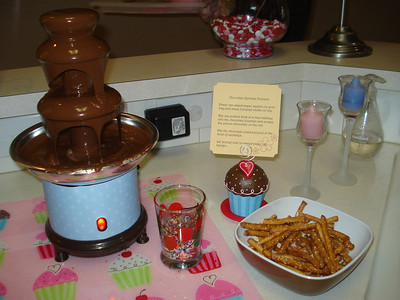 The chocolate fountain  Photo courtesy of the Hebert Family