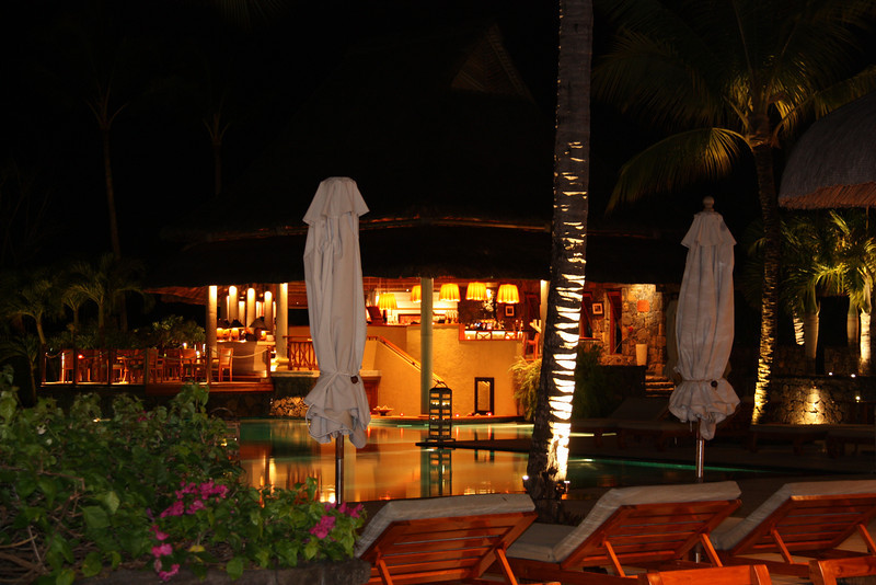 Le Prince Maurice Hotel by night. What a hotel!