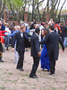 Harvard Men in tuxedoes doing English Country dance on May Day. The mind boggles.