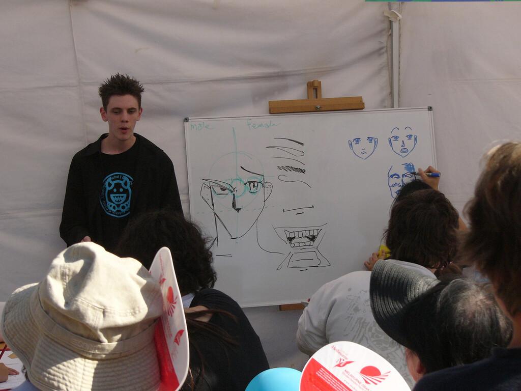 20080217_2881 Osaka festival. Drawing 'manga' cartoon characters