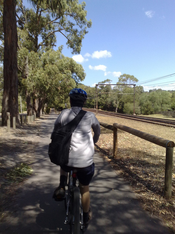 20090124_1505_331 Bicycle trail running beside Belgrave railway line.  Between Boronia and Ferntree Gully stations.
