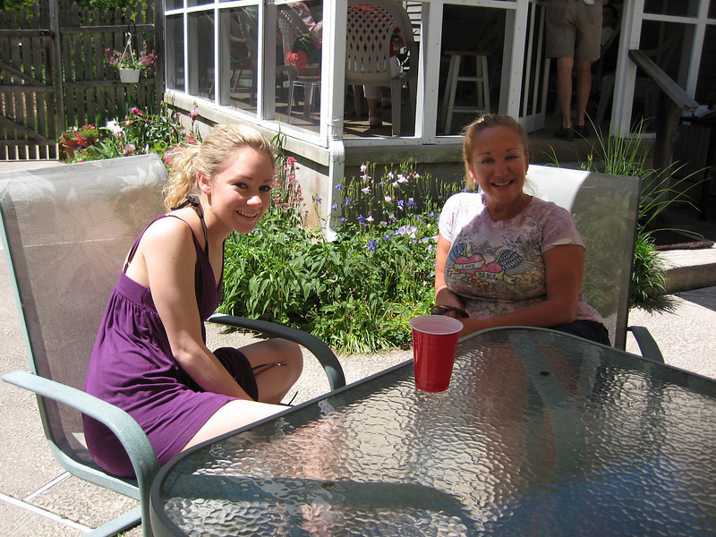Casey & Aunt Janice in Aunt Janice's back yard