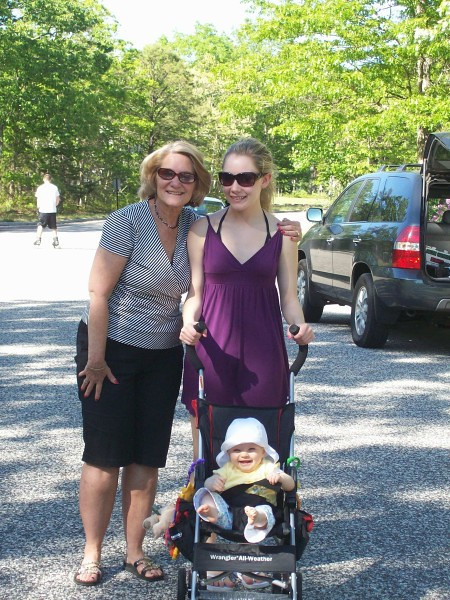 """Contributed by Melissa : Out for our walk 2008. I can hear Casey say """"Awww, little baby!"""""""