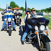 Debbie Blank | The Herald-Tribune<br /> After participating in the St. John's United Church of Christ, Huntersville, Cemetery service, Indiana Patriot Guard riders get ready to zoom to the next cemetery.