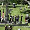 Memorial Day ceremonies in Shirley Center Cemetery.  SUN/ David H. Brow