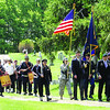 Memorial Day ceremonies in Shirley , here the parade leaves the Center Cemetery.  SUN/ David H. Brow