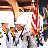 Debbie Blank | The Herald-Tribune<br /> Flags were posted at the Batesville Memorial Day program's 11 a.m. beginning and retired at the end by U.S. Naval Sea Cadet Corps Flying Tigers Squadron members. They are 10-17 and learn about naval life and military training.