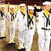 Debbie Blank | The Herald-Tribune<br /> With their erect bearings and serious expressions, U.S. Naval Sea Cadet Corps Flying Tigers Squadron members added some pomp to the program.
