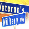 Debbie Blank | The Herald-Tribune<br /> Two street signs fitting for Memorial Day -- Veteran's Drive and Military Way -- soon will be installed in Liberty Park, according to Mayor Mike Bettice.