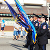 Debbie Blank | The Herald-Tribune<br /> There were so many flags -- including these carried by the Franklin County Emergency Service Honor Guard.