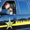 Debbie Blank | The Herald-Tribune<br /> Franklin County Sheriff Ken Murphy surveyed the Main Street crowd while being a parade participant.