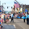 Debbie Blank | The Herald-Tribune<br /> Brookville firefighters draped a gigantic American flag across the Main Street-Sixth Street intersection for the town's 100th Bernard Hurst American Legion Post 77 Memorial Day parade. It began May 28 at 9 a.m. at St. Michael Cemetery, then proceeded to the Old Brookville Cemetery and Purple Heart Monument, down Main Street to the Sixth Street bridge and ended at Maple Grove Cemetery, where a short memorial service was held.
