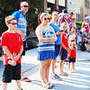 Debbie Blank | The Herald-Tribune<br /> People not wearing red, white and blue stood out.