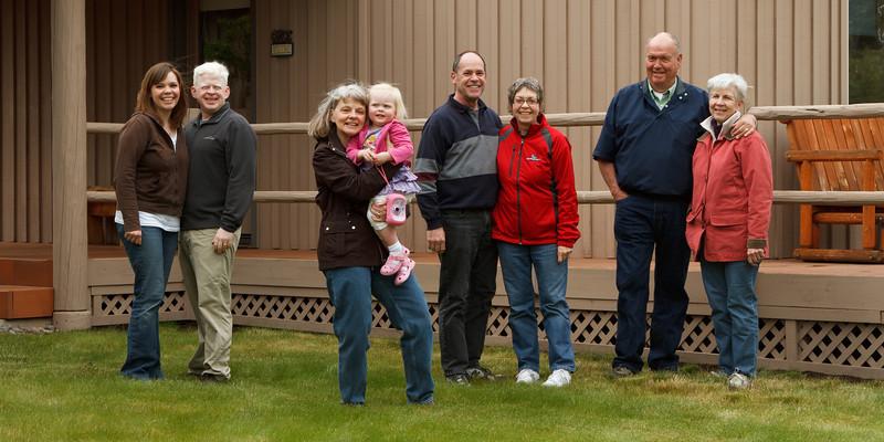 Sarah, Ben, Jennifer, Katie, Steve, Laurie, Ernie, and Adele on Memorial Day Weekend