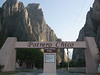 The entrance in to the potrero chico canyon