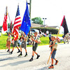 Debbie Blank | The Herald-Tribune<br /> Boy Scouts in Troop 631 also displayed the colors.
