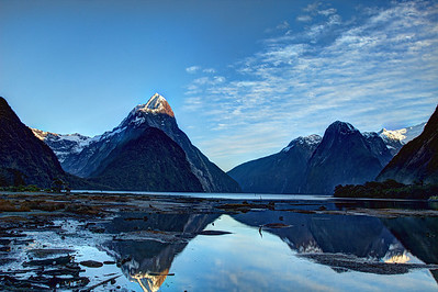 Milford Sound after sunrise - 3 October 2011