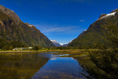 "Milford Sound ""Township"".  Fiordland, New Zealand"