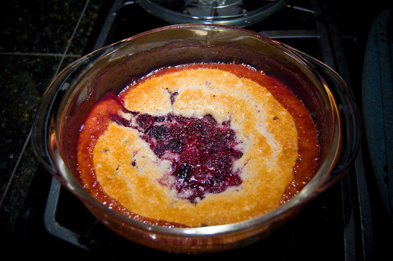 Deb was very proud of her blackberry cobbler.
