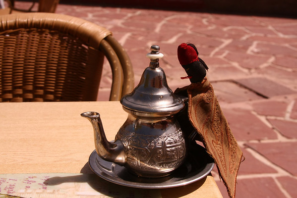 Very hot tea pot.
