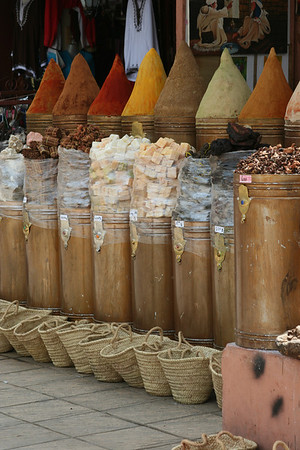 Various types of spices.