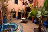 The inner courtyard at our riad.