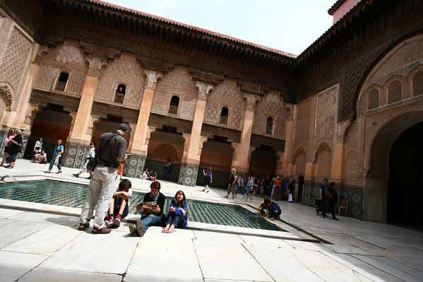 The main inner courtyard.
