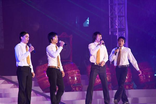 Free show on a stage near Hoan Kiem Lake.