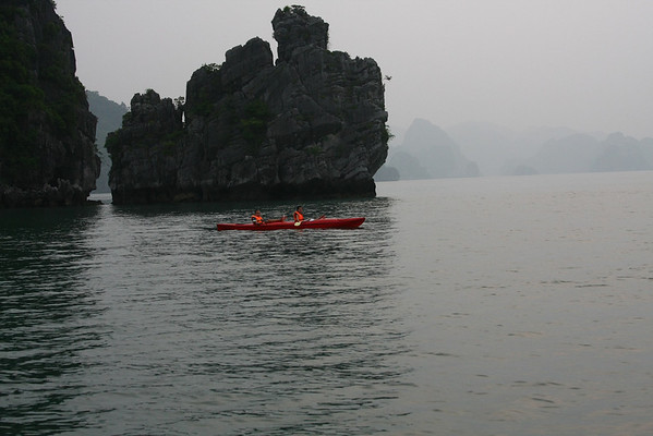 Kayaking is part of every tour and lasts less than an hour.