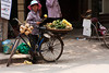 Mobile fruit seller.