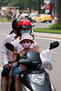 3 people on a motorbike is not an issue.