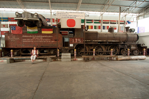 JEATH War Museum in Kanchanaburi. JEATH stands from Japan, England, Australia, Thailand and Holland, the nationalities of the prisoners that were forced to work on the railway. The Japanese wanted to build a railway from Thailand to Burma for further expansion. Forced labor was used with prisoners of war in very tough conditions. Over 100.000 of them died.