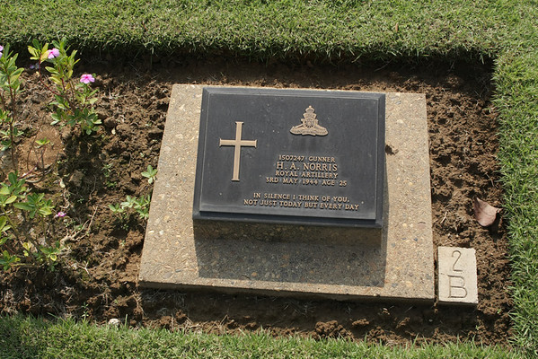 Each grave with it's own message and the cemetery is perfectly maintained.