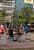 Christmas tree in Bangkok. The band was singing very nice and there were some vendor stalls around selling handmade products.