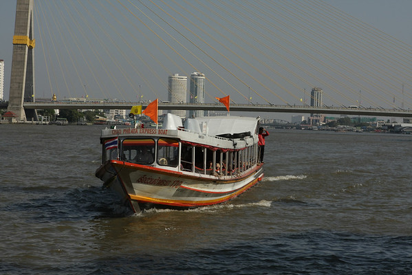 Express boat, no traffic on the river and cheap.
